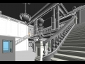 Custom modeled marble staircase